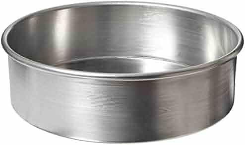 American Metalcraft 3810 Aluminum Cake Pan, Silver, 10-Inch Diameter