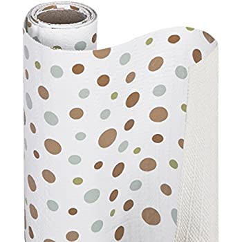 Smart Design Shelf Liner w/Bonded Grip - Wipes Clean - Cutable Material - Non Slip Design - for Shelves, Drawers, Flat Surfaces - Kitchen (12 Inch x 10 Feet) [Dizzy Dots]