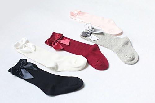 Z-Chen Pack of 5 Pairs Unisex Baby Kids Knee High Socks Stockings 0-4 years