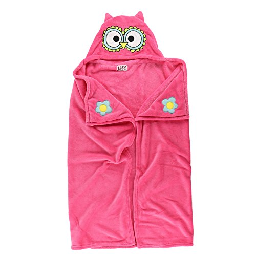 Owl Blanket Childrens Hooded Animal Critter Blankets by LazyOne | Childrens Dress Up Large Travel Blanket (ONE SIZE) by Lazy One (Image #2)
