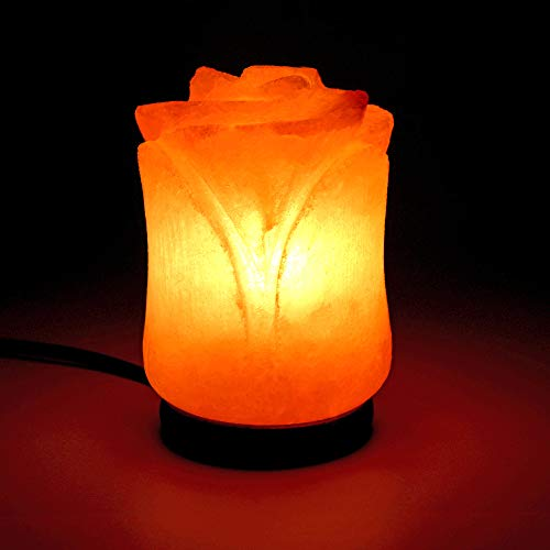 Beautiful Flower Shape Himalayan Salt Lamp   Authentic and Hand Carved Himalayan Salt   Sourced from Pakistan