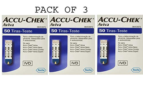 Accu-chek Aviva Glucose Test Strips 50 (Pack of 3) (Accu Chek Aviva Plus Nfr Test Strips)
