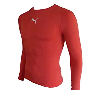 Puma Men's Long-Sleeved Shirt Tight-Fitting with Round Neck ...