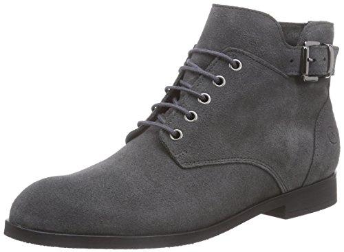 Bronx BtaggerX - botas de caño bajo de cuero mujer gris - Grau (dark grey / 07)