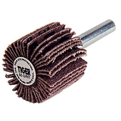 Weiler Coated Aluminum Oxide Flap Wheel - 60 Grit - 1 in Face Width - 2 1/4 in Dia - 23000 Max RPM - 52486 [PRICE is per WHEEL]