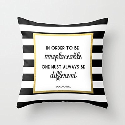- Busy Deals New Coco Gold Fashion Quote Pillowcase Home Decoration pillowcase covers