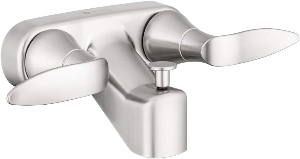 Dura Faucet DF-SA110LH-SN RV Tub & Shower Faucet Valve Diverter with Winged Levers (Brushed Satin Nickel)