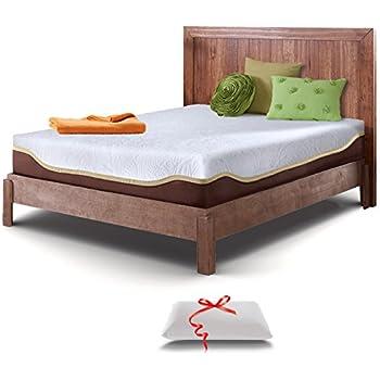 live and sleep resort elite california king size 10inch firm cooling gel memory foam mattress and luxury pillow certipur certified plus - King Size Tempurpedic Mattress