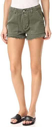 Hudson Jeans Women's Mika High Rise Military Raw Hem 5-Pocket Short