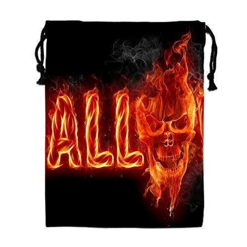 Halloween Red Skull Gym Sack Bag Sport Drawstring
