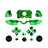 YTTL®Chrome Green ABXY Dpad Triggers Full Buttons Set Kits Controller Mod for Newest Xbox One Controller (3.5mm Port) with Screwdriver (Torx T6 T8) Set -