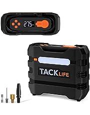 TACKLIFE ACP1B Compresor Aire Coche, 12V/150PSI Inflador Electrico, inflador Ruedas Coche con Pantalla LCD, 3-Modos Luz LED, 4 Adaptadores, Fusible Extra