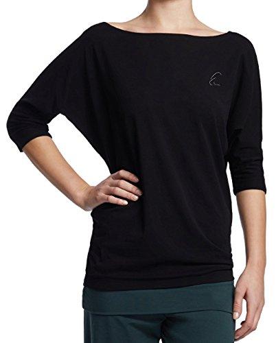 Esparto Sadaa Camiseta de manga media, de algodón orgánico verde - Smaragdgruen
