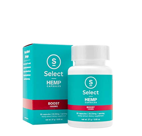 Select Hemp Gel Capsules Boost 30 Capsules 1000mg