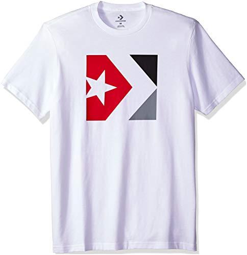 Converse Men's Distressed Star Chevron Short Sleeve T-Shirt, White, M