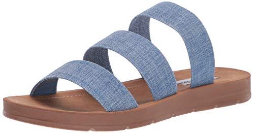 Steve Madden Women's Pascale Sandal Denim 7 M US ()