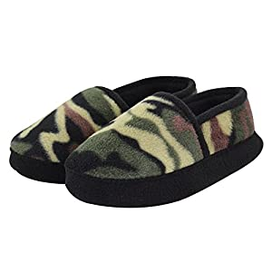 LA PLAGE Warm Cotton Winter Slippers for Boy Cozy Indoor Slip-on Slippers with Hard Sole