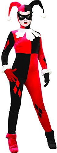 Hero Villain Party Costumes (Rubie's Costume Dc Heroes and Villains Collection Harley Quinn, Multicolored, Medium Costume)
