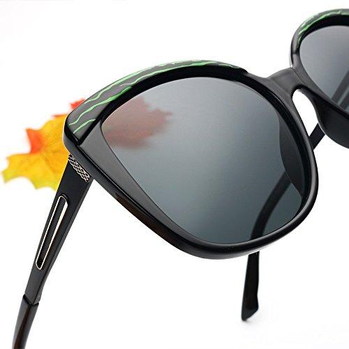 Negro Polarizadas Mujer Gafas Grande Unas Butterfly Bastidor Gray De De TIANLIANG04 Gafas Lujo De De Sol Plata Enormes Classic Sol Black Uv400 Gafas wZdYHqfx