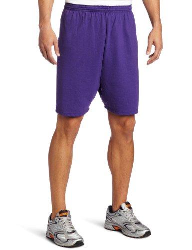 Soffe Men's Heavy Weight Jersey Short Purple -