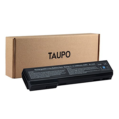 TAUPO Laptop Battery Compatible with HP EliteBook 8460p 8470p 8560p 8570p, ProBook 6560b 6570b 6460b 6470b 6360b, fits P/N QK642AA CC06 628666-001 [6-Cell, 11.1V] - 12 Months Warranty