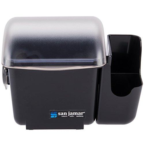 San Jamar BD2002CAR Mini Dome Garnish Center with Chillable Tray and Right Hand Caddy (1-Quart, Black, NSF) by San Jamar
