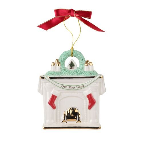 Bone Christmas Tree Ornament (Spode Our First Home Fireplace 2017 Christmas Tree Ornament)