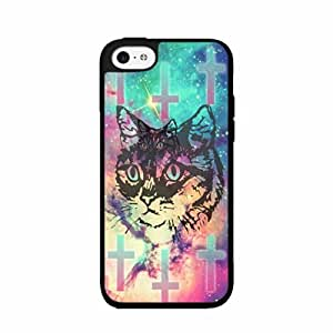 Trippy Cute Cat Plastic Phone Case Back Cover iPhone 4 4s by lolosakes