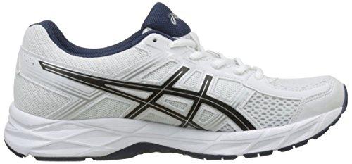 Gel De Chaussures Asics Bleu Homme noir insignia Blanc contend 4 Running blanc IpwwrBndq