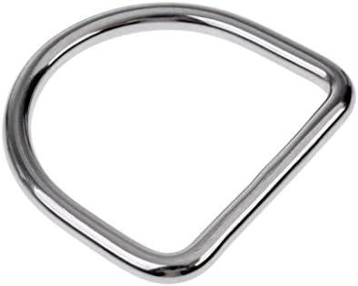 ステンレス 5cm スキューバ ダイビング ウェイトベルトキーパー Dリング