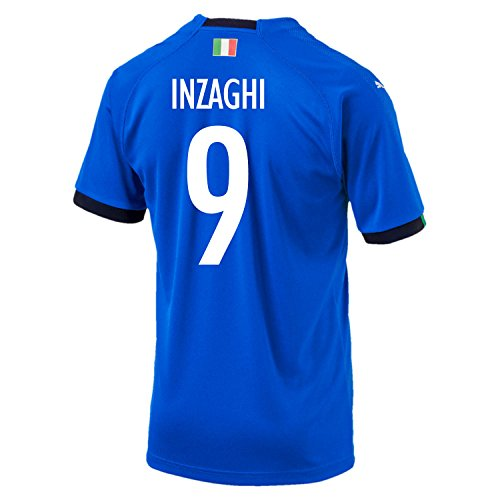 Puma Inzaghi #9 Italy Home Soccer Jersey World Cup Russia 2018 (S)