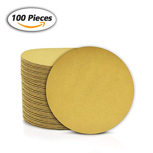 SPEEDWOX 100 Pcs 6 Inches Sanding Discs 150 Grit Dustless Hook and Loop Sandpaper for Random Orbital Sander Yellow Finishing Discs for Automotive Woodworking from SPEEDWOX