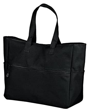 Bi-Color Tote - Black