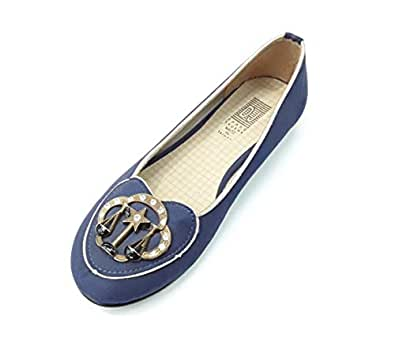 Shang Shuena Blue Flat Shoes for Women