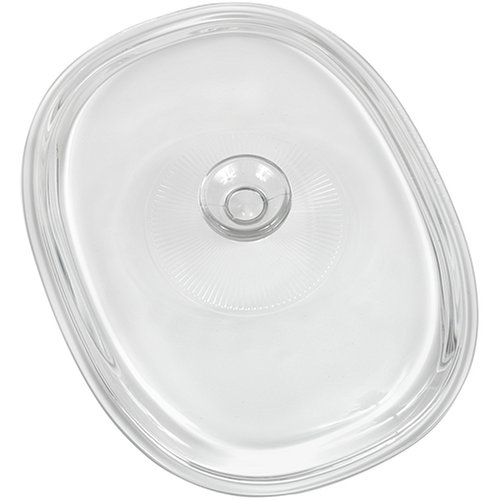 CorningWare French White 2-1/2-Quart Oval Glass Cover by CorningWare