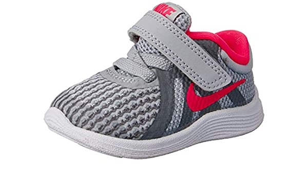 Nike Girls' Revolution 4 (TDV) Running Shoe, Wolf GreyRacer