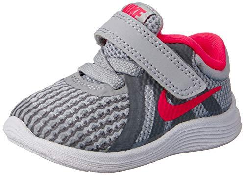 Nike Girls' Revolution 4 (TDV) Running Shoe, Wolf Racer Pink-Cool Grey-White, 10C Toddler US Toddler (Nike Shoes For Little Kids)