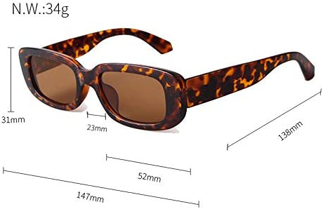 SORVINO Rectangle Sunglasses for Women Men 90s Vintage Retro Sunglasses Square Frame Black Frame//Grey Lens