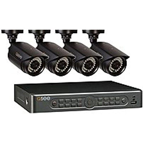 Q-See QT5682-4V3-1 8 Channel DVR 960H Security Surveillance System with 4 High-Resolution ***900***TVL Cameras and 1TB Hard Drive (Black)