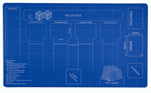 Blueprint Destiny Playmat Inked Gaming - Inked Playmats / Perfect for Star Wars Destiny SWD TCG Game Mat by Inked Playmats
