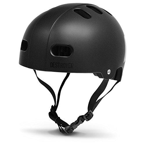 Destroyer EPS Skateboard Helmet (Black/White/Red, Large/X-Large)