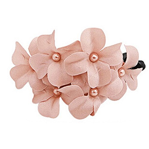 Coromose Women Handmade Flower Banana Barrette Hair Clip Hair Pin Claw (Pink)