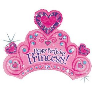 34 Inches Happy Birthday Princess Mylar