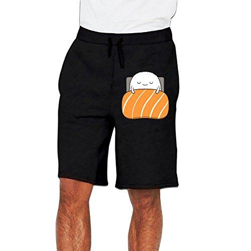HAGT Men's Be Quiet I Am Sleepy Short Running Pants XXL (Halloween Burger Recipes)
