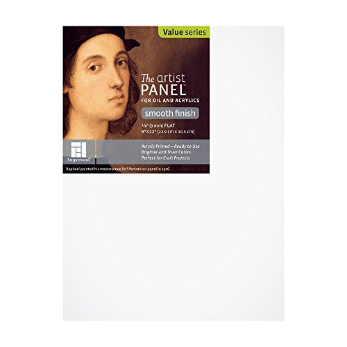 Ampersand Claybord Panel - Ampersand Art Supply Primed Smooth Artist Panel 1/8