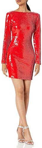 Dress the Population Women`s Lola Sequin Dress
