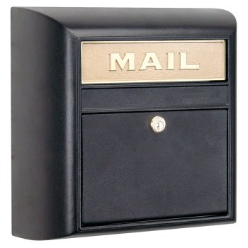 Modern Locking Mailbox   Black