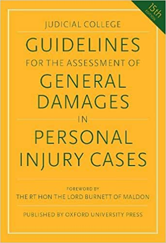 Judicial College Guidelines >> Guidelines For The Assessment Of General Damages In Personal