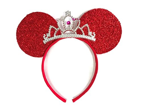 MeeTHan Mickey Mouse Ears Headband Minnie Mouse ears Tiara headbands : M6 - Orange With Logo Fish Sunglasses
