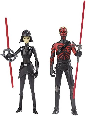 """STAR WARS REBELS /""""DARTH MAUL /&SEVENTH SISTER/"""" ACTION FIGURES NEW!!"""